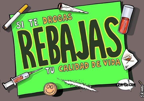 Rebajas cartel prevención drogas