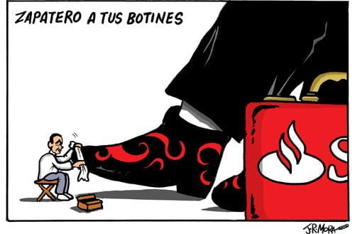Banco Santander, atropellos sin sangre