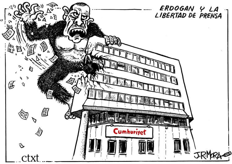 Erdogan, a la sombra de su caricatura