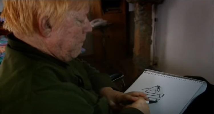 John Callahan dibujando
