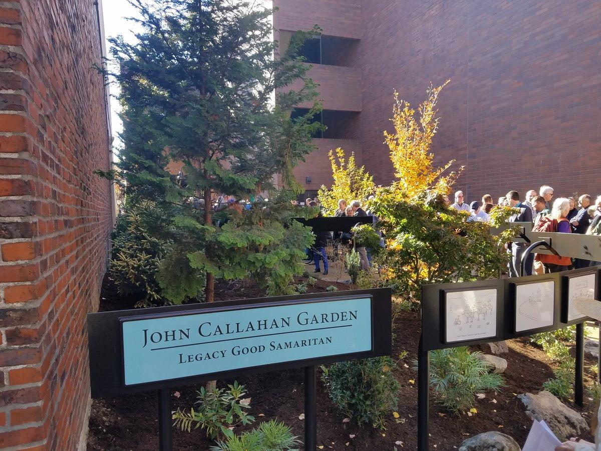 John Callahan memorial park garden