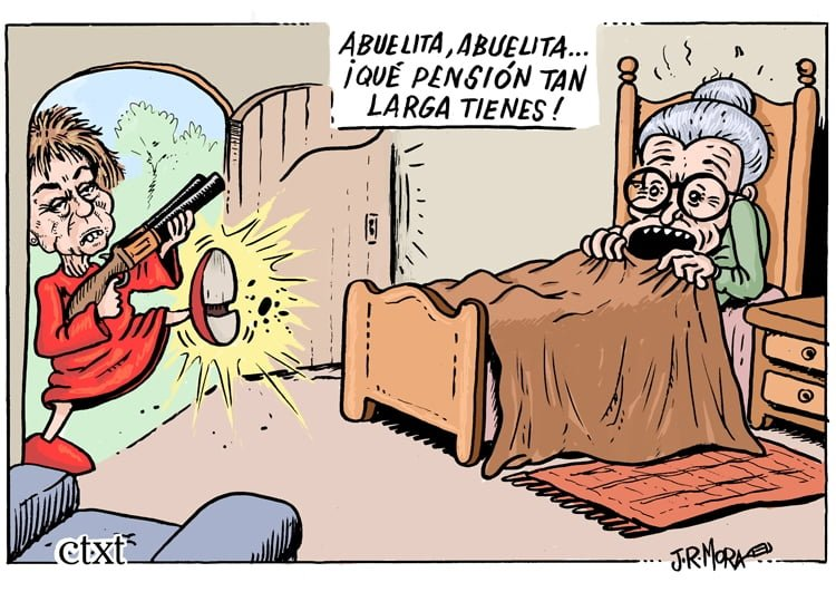 Villalobos y las pensiones - JRMora, humor gráfico