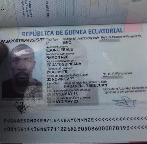 Ramón Esono consigue el pasaporte para poder salir de Guinea Ecuatorial