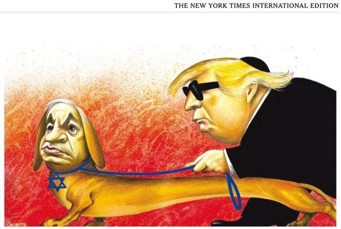 The New York Times se disculpa y retira una viñeta sobre Trump y Netanyahu
