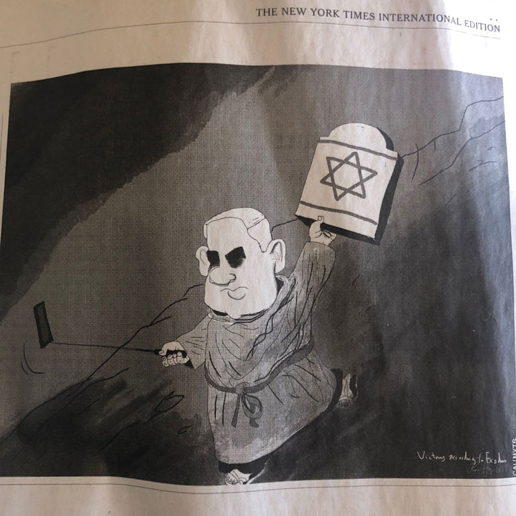 The New York Times se disculpa y retira una viñeta sobre Trump y Netanyahu 2