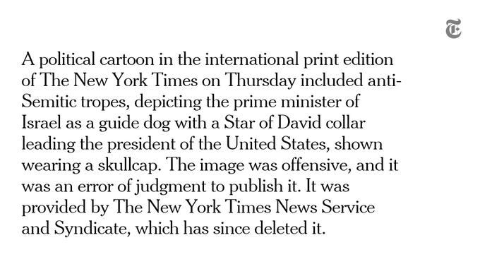 The New York Times se disculpa y retira una viñeta sobre Trump y Netanyahu 5