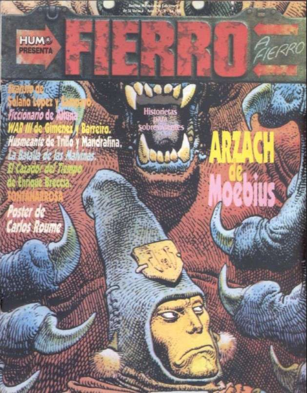 Disponibles para descarga los primeros 50 ejemplares de la revista Fierro