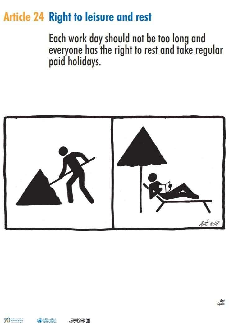 Sindicato policial pide la retirada de una viñeta de una exposición sobre derechos humanos en Getxo