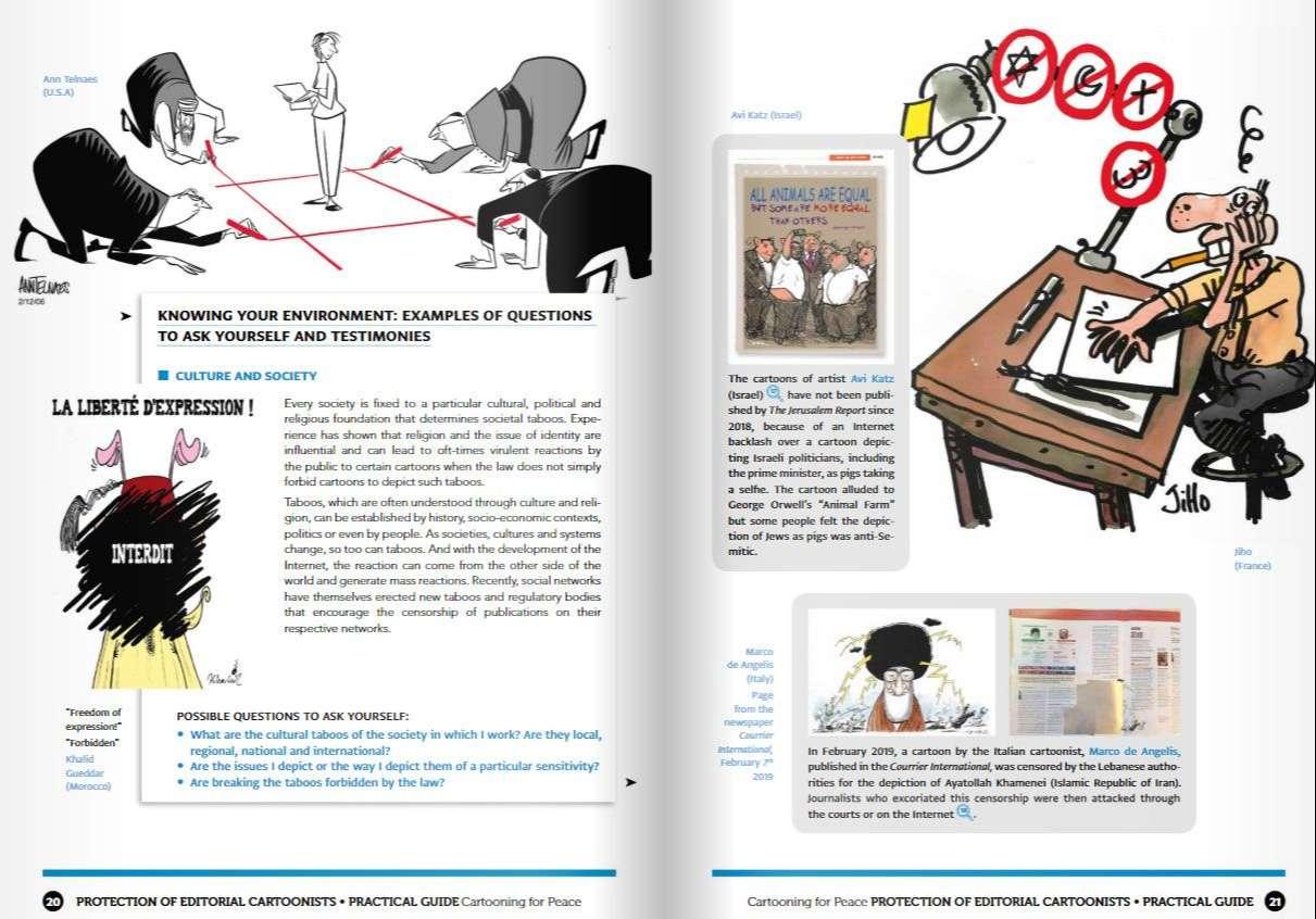 Guía práctica para la protección de dibujantes editoriales