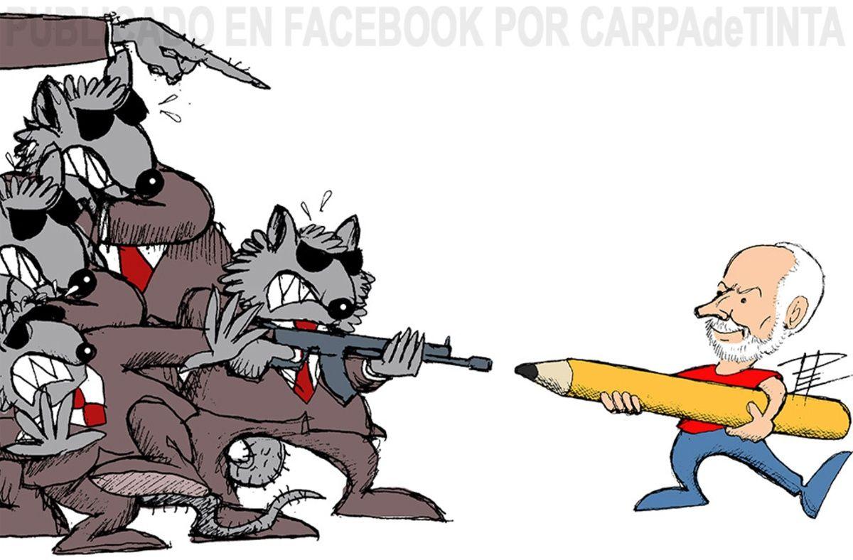 El dibujante peruano Carlín recibe amenazas de agresión por una viñeta sobre Alan García