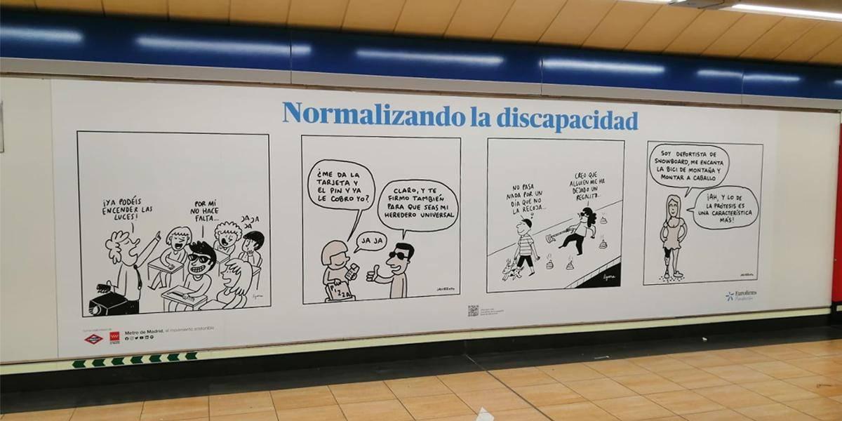 Viñetas en el Metro