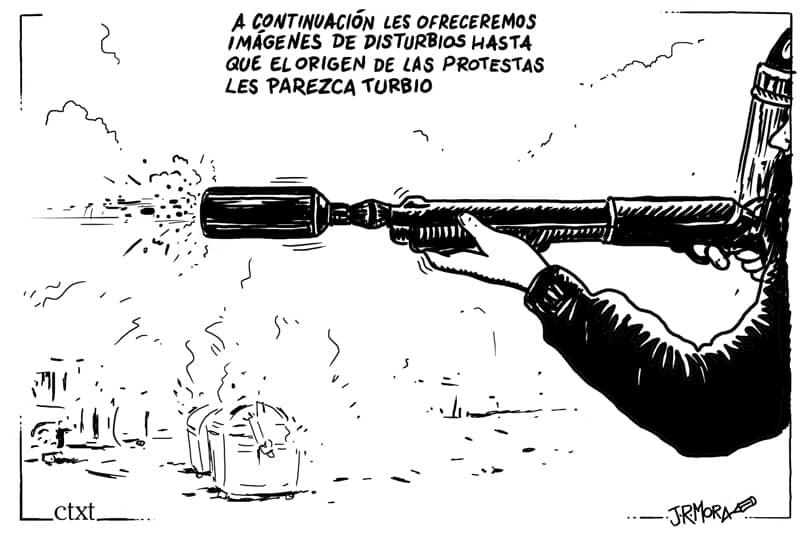 Sindicato policial pide la retirada de una viñeta de una exposición sobre derechos humanos 33